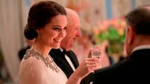 Catherine, Duchess of Cambridge smiles during a dinner at the Royal Palace with Prince William, Duke of Cambridge on day 3 of their visit to Sweden and Norway on February 1, 2018 in Oslo, Norway. (Photo by Chris Jackson - Pool/Getty Images)