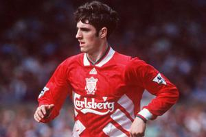 Dubliner Mark Kennedy in action for Liverpool