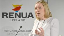 Lucinda Creighton TD takes the stage to officially launch the latest Irish political party Renua