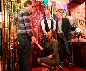 Michelle proposes to Steve at The Rovers in 2015
