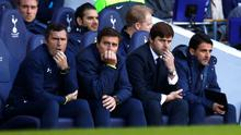 Tottenham Hotspur's manager Mauricio Pochettino (2nd R) looks on as his side take on Stoke at White Hart Lane. Photo credit: REUTERS/Eddie Keogh