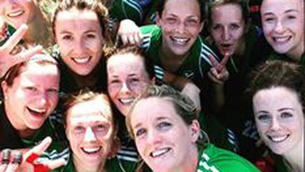 The victorious Ireland women's hockey team. Picture Credit: Facebook/FIHockey