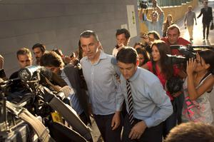 Brett King, father of five year old Ashya King, leaves the Materno Infantil Hospital on September 3, 2014 in Malaga, Spain