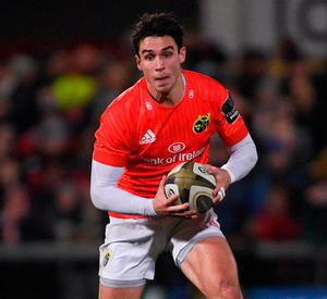 Munster's Joey Carbery. Photo: Ramsey Cardy/Sportsfile