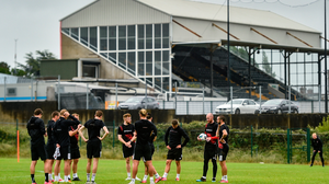 Dundalk FC players during a training session at Oriel Park in Dundalk, Louth last month. Photo: Ben McShane/Sportsfile