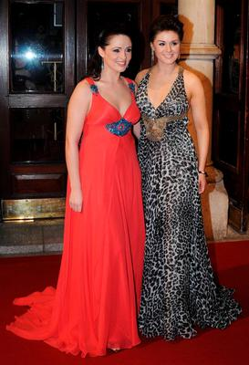 2008: The Seoige sisters - Grainne in a flowing red and blue gown, Sile in a leopard print maxi dress - were the real stars of the night.