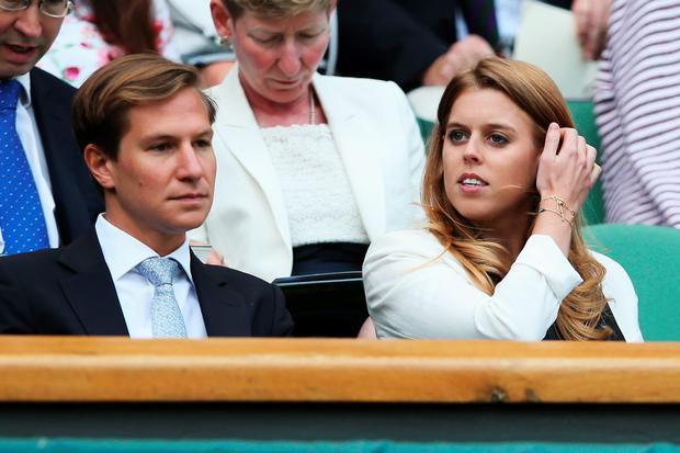 Dave Clark and Princess Beatrice of York attend day nine of the Wimbledon Lawn Tennis Championships at the All England Lawn Tennis and Croquet Club at Wimbledon on July 2, 2014 in London, England. (Photo by Jan Kruger/Getty Images)
