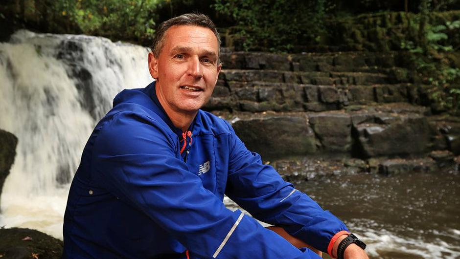 Ger Hartmann at The Clare Glens Waterfall. Photo: Gerry Mooney