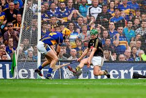 Seamus Callanan, Tipperary, scores his side's second goal of the game