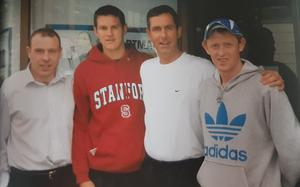 Ger Hartmann with Seamus Moynihan, Eoin Brosnan and Colm Cooper in the week leading up to the 2006 All-Ireland final victory over Mayo