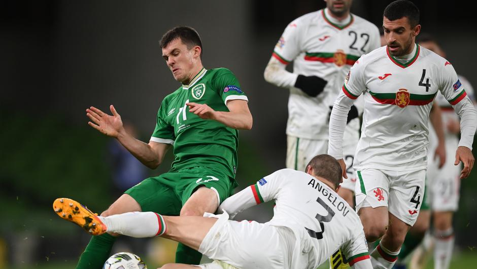 Jason Knight was one of Ireland's good performers against Bulgaria. Photo by Stephen McCarthy/Sportsfile