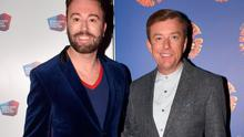 Karl Broderick and Alan Hughes at the opening night of Chitty Chitty Bang Bang. Picture: Brian McEvoy