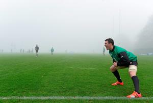 20 November 2014; Ireland's Peter O'Mahony during squad training ahead of their side's Guinness Series match against Australia on Saturday. Ireland Rugby Squad Training, Carton House, Maynooth, Co. Kildare. Picture credit: Stephen McCarthy / SPORTSFILE