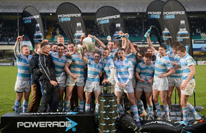 Blackrock College win the Leinster Schools Cup in 2013, beating St Michael's — 13 of the 30 players who started that game went on to play professional rugby