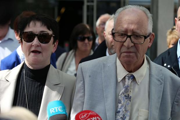 Ana's parents speak outside court. Photo: Collins Courts