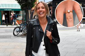 Newly engaged Blathnaid Treacy spotted on South William Street and shows-off her new engagement ring