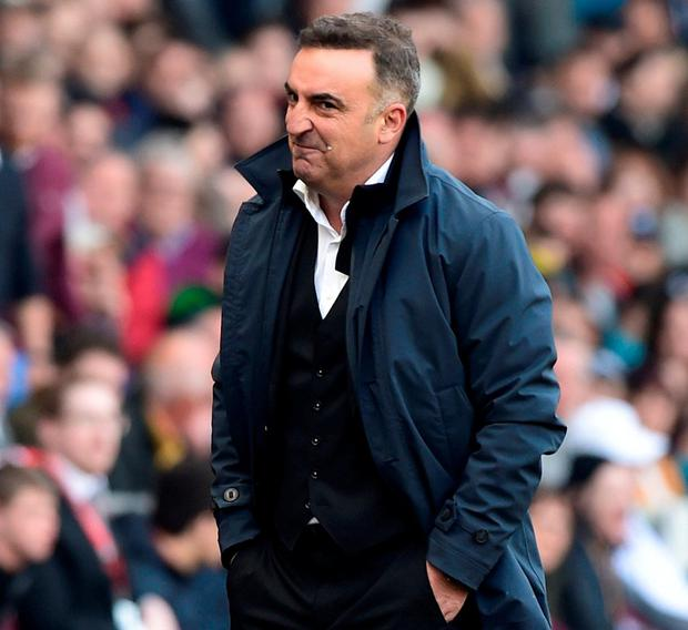 Swansea City manager Carlos Carvalhal. Photo: Rebecca Naden/Reuters