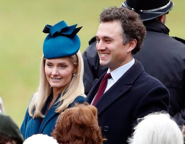Lucy Lanigan-O'Keeffe and Thomas van Straubenzee attend Sunday service at the Church of St Mary Magdalene on the Sandringham estate on January 5, 2020 in King's Lynn, England. (Photo by Max Mumby/Indigo/Getty Images)