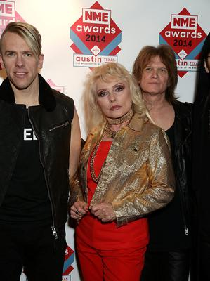 Blondie with Debbie Harry (centre) arriving for the 2014 NME Awards, at Brixton Academy, London.PRESS ASSOCIATION Photo. Picture date: Wednesday February 26, 2014. Photo credit should read: Yui Mok/PA Wire