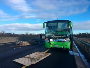 The aftermath of the crash on the M7. Picture: Brian Patten