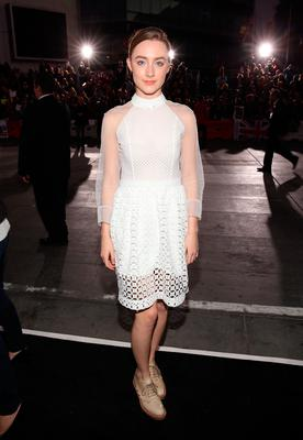 "Saoirse Ronan arrives at the premiere of Summit Entertainment's ""The Twilight Saga: Breaking Dawn - Part 2"" at Nokia Theatre L.A. Live on November 12, 2012 in Los Angeles, California.  (Photo by Christopher Polk/Getty Images)"