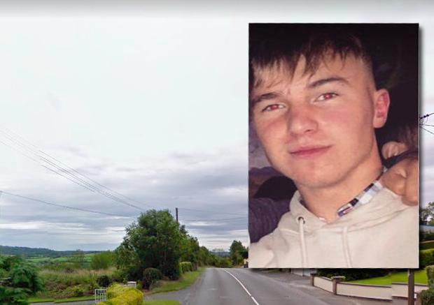 David Lekerauskas (inset) died in a collision on the Dublin Road in Kingscourt this morning