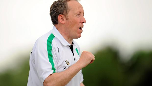 20 June 2015; London Manager Paul Coggins. GAA Football All-Ireland Senior Championship, Round 1A, London v Cavan, Páirc Smárgaid, Ruislip, London, England. Picture credit: Seb Daly / SPORTSFILE
