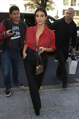 Kim Kardashian arrives at the 'Art District' apartments on September 25, 2014 in Paris, France.  (Photo by Marc Piasecki/GC Images)