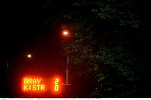 11 September 2015; A general view of the scoreboard after the match. Irish Daily Mail FAI Senior Cup, Quarter-Final, Bray Wanderers v Killester United, Carlisle Grounds, Bray, Co Wicklow. Picture credit: Piaras ? M?dheach / SPORTSFILE
