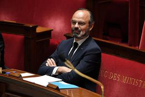 French Prime Minister Edouard Philippe attends a debate about the French government's plan to unwind the country's coronavirus lockdown. Photo: David Niviere/Pool via REUTERS