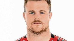 Conan O'Donnell in his Crusaders gear earlier this year. Photo: Kai Schwoerer/Getty Images