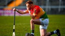 Richard Coady reacts following Carlow's defeat in the Allianz Hurling League Division 1 relegation play-off against Westmeath. Photo: Seb Daly/Sportsfile