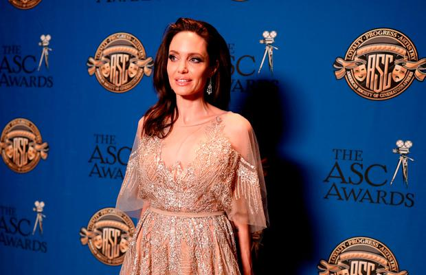 Angelina Jolie attends the 32nd Annual American Society Of Cinematographers Awards at The Ray Dolby Ballroom at Hollywood & Highland Center on February 17, 2018 in Hollywood, California.  (Photo by Christopher Polk/Getty Images)