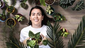 'Plantstagrammer': Catherine O'Sullivan of My Plant Family pictured at home in Cork. Photo: Clare Keogh