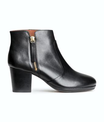 Leather ankle boots, €79.99, H&M