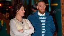 Conor McGregor and Dee Devlin on Dublin's Exchequer Street. Picture: Cathal Burke / VIPIRELAND.COM