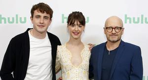 Working it out: Paul Mescal, Daisy Edgar-Jones and Lenny Abrahamson. Photo: Rachel Murray/Getty Images for Hulu