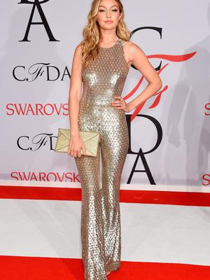 Gigi Hadid attends the 2015 CFDA Fashion Awards  at Alice Tully Hall at Lincoln Center on June 1, 2015 in New York City