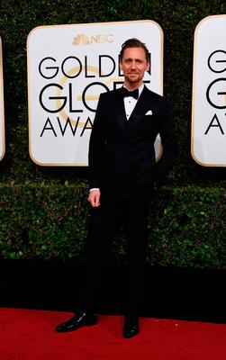 Tom Hiddleston at the 74th annual Golden Globe Awards