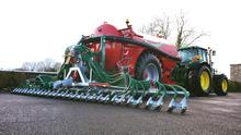 The injector unit can easily be mounted to any tanker and then taken off and used with the Bak Pak hose reeler on the SlurryKat umbilical system.