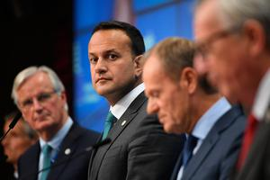 Remaining steadfast: Taoiseach Leo Varadkar at the European Council summit in Brussels last week. Photo: Stefan Rousseau/PA Wire