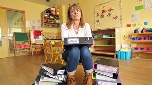 Paula Donohoe at her Clever Clogs crèche in Ballyconnell, Co Cavan  Photo: Lorraine Teevan