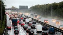 Traffic at a standstill on the M50, affecting all of Dublin Picture: Arthur Carron