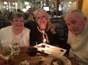 Claudia Carroll enjoying quality time with her mother Anne and late father Claude.