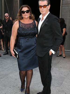 Actor Pierce Brosnan with his wife Journalist Keely Shaye Smith  attend the Saint Laurent Menswear Spring/Summer 2016 show as part of Paris Fashion Week on June 28, 2015 in Paris, France.  (Photo by Pierre Suu/Getty Images)