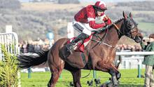 National service: Keith Donoghue steers Tiger Roll through the Glenfarclas Cross Country course on their way to finishing second. Photo: PA