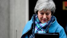 Britain's Prime Minister Theresa May leaves 10 Downing Street, as she faced a vote on her Brexit 'plan B'. Photo: REUTERS/Toby Melville