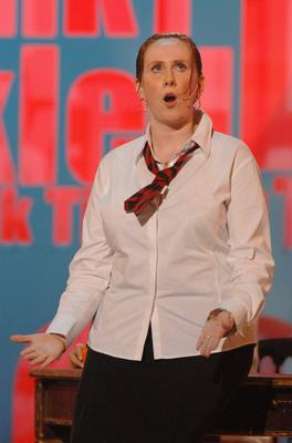 Catherine Tate as schoolgirl Lauren (Ian West/PA)