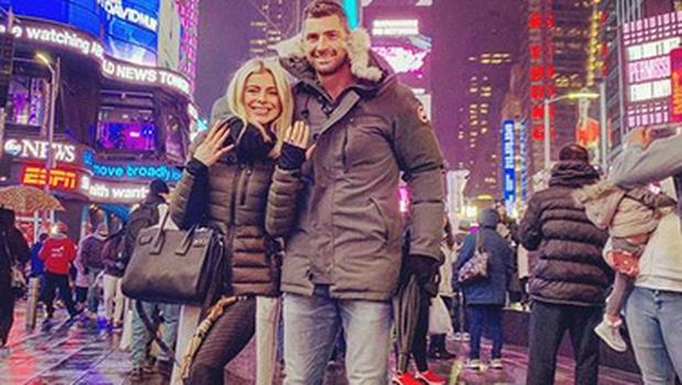Rob Kearney and Jess Redden became engaged in January. Picture: Instagram