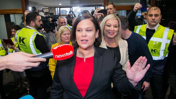 Sinn Féin President Mary Lou McDonald pictured at the RDS count centre, Dublin. Photo: Gareth Chaney, Collins